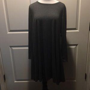 2x Long Sleeve Gray Dress With Pockets